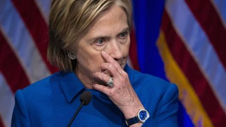 Ba Hillary Clinton boc bach ve noi that vong sau khi thua ong Trump - Anh 1