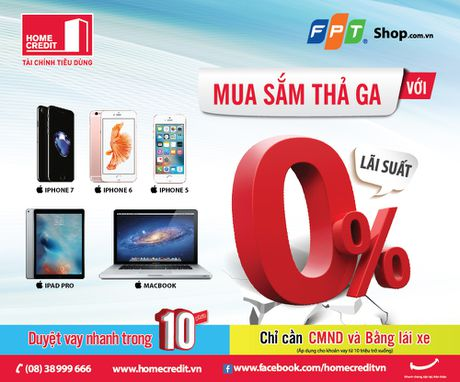 Home Credit cho vay lai suat 0% cac dong san pham Apple - Anh 1
