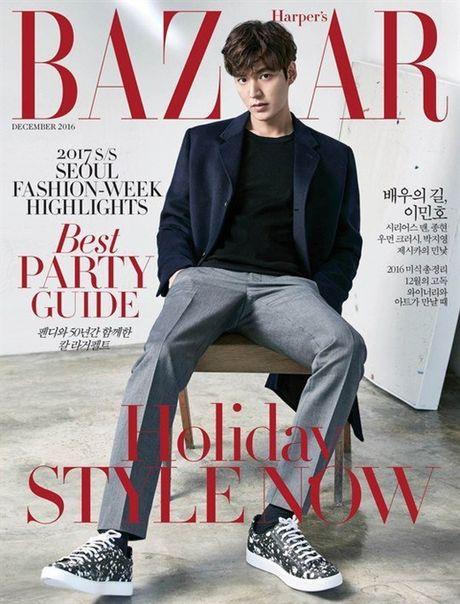 Lee Min Ho noi ve Jun Ji Hyun va 'The Legend of the Blue Sea' tren tap chi Bazaar - Anh 1