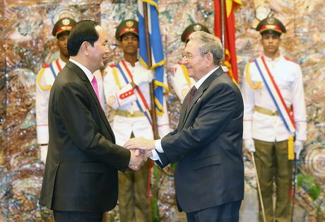 Tang cuong quan he doan ket anh em Viet Nam - Cuba - Anh 1
