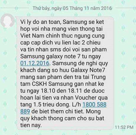 Thong tin Galaxy Note 7 bi chan lien lac tai Viet Nam tu 1/12/2016 khong chinh xac - Anh 2