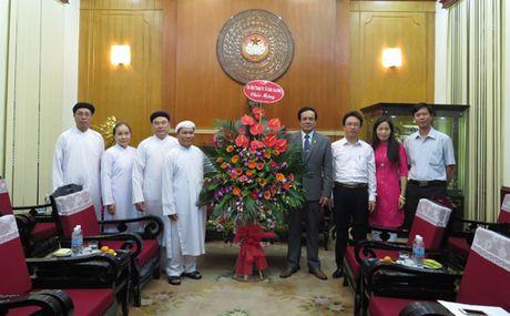 Cac Hoi thanh va To chuc Cao Dai chuc mung ngay truyen thong MTTQ Viet Nam - Anh 1