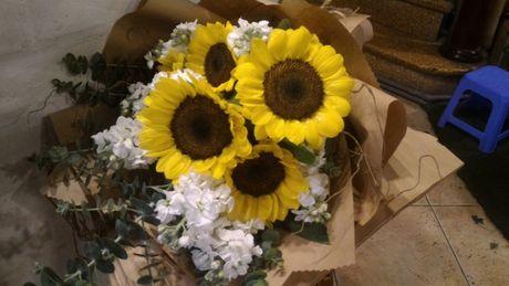 Thi truong hoa chuc mung 20.11: Hoa huong duong, hoa hong len ngoi - Anh 6