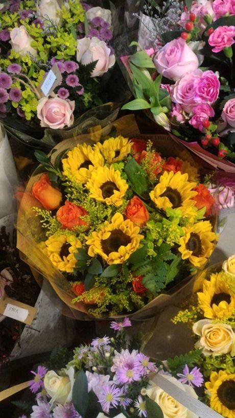 Thi truong hoa chuc mung 20.11: Hoa huong duong, hoa hong len ngoi - Anh 8