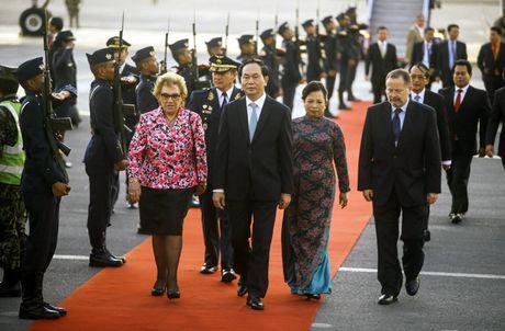 Hoat dong cua Chu tich nuoc Tran Dai Quang trong ngay lam viec dau tien tai Peru - Anh 2