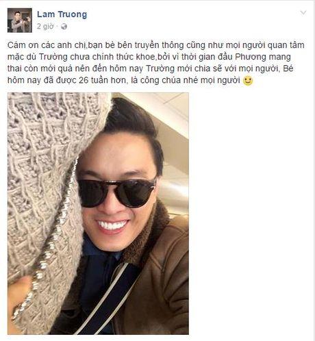 Lam Truong xac nhan vo mang thai 6 thang - Anh 1