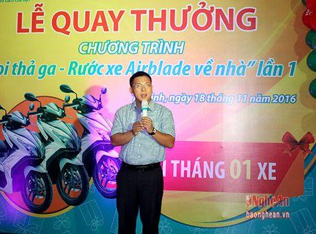 Viettel Nghe An tim ra chu nhan giai nhat chuong trinh 'Goi tha ga – Trung xe Airblade' lan 1 - Anh 1