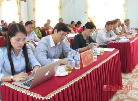 Pho Chu tich UBND tinh Le Xuan Dai tiep xuc cu tri Nghia Dan - Anh 1