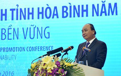 Thu tuong Nguyen Xuan Phuc du hoi nghi xuc tien dau tu tai Hoa Binh - Anh 2