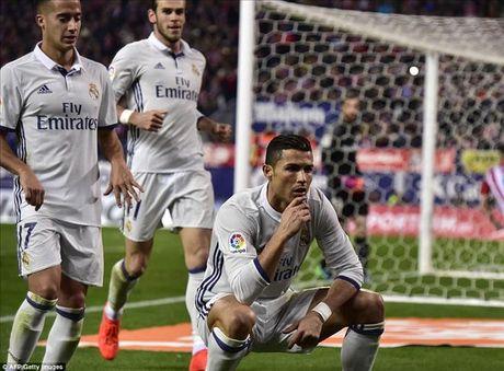 Atletico Madrid 0-3 Real Madrid: Derby nhuom mau...Ronaldo - Anh 1