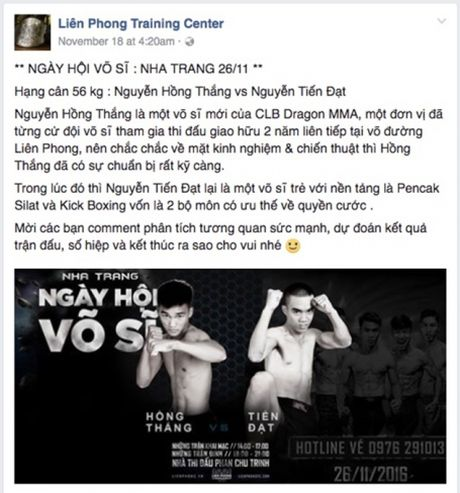 So VH&TT Khanh Hoa: Se xu ly nghiem neu Johnny Tri Nguyen to chuc thi dau MMA - Anh 2