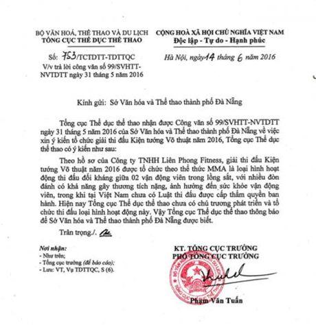 So VH&TT Khanh Hoa: Se xu ly nghiem neu Johnny Tri Nguyen to chuc thi dau MMA - Anh 3