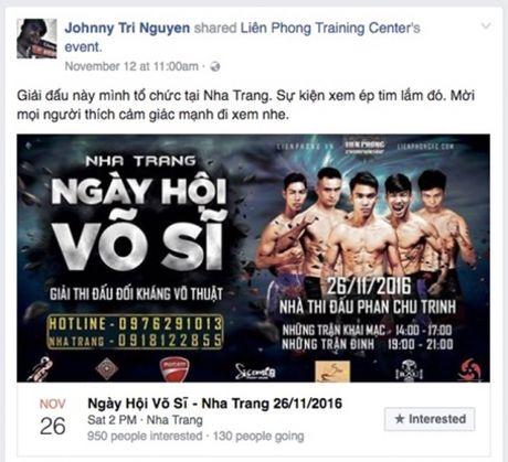 So VH&TT Khanh Hoa: Se xu ly nghiem neu Johnny Tri Nguyen to chuc thi dau MMA - Anh 5
