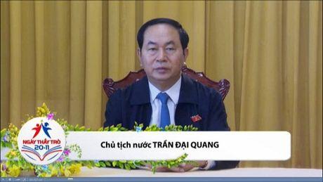 Chu tich nuoc Tran Dai Quang chuc mung Ngay nha giao Viet nam - Anh 1