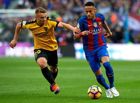 Barcelona - Malaga: Ngoi sao co don Neymar - Anh 1