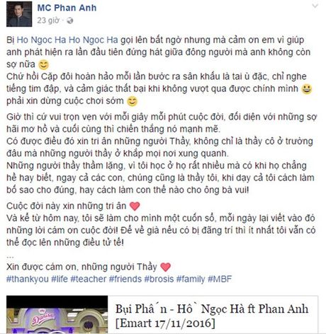 Pham Huong cung dan sao Viet tri an thay co ngay 20.11 - Anh 4