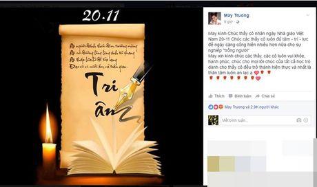 Pham Huong cung dan sao Viet tri an thay co ngay 20.11 - Anh 7