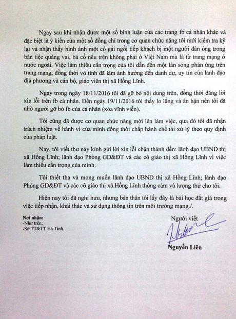 Xu phat hanh chinh nguoi dang facebook bia dat ve giao vien Ha Tinh - Anh 3