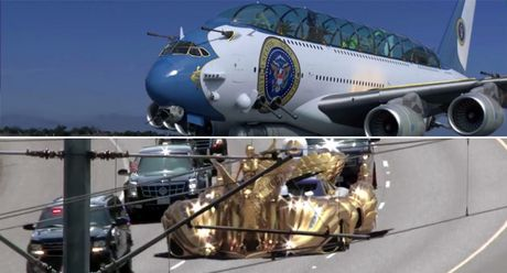 Ky la Air Force One va limousine cua tan Tong thong Donald Trump - Anh 1