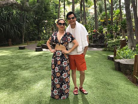 Thanh Thao e ap ben 'nguoi tinh' Quang Dung o Hawaii - Anh 4