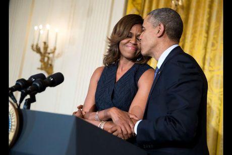 Khoanh khac ngot ngao den 'rung tim' cua vo chong Obama - Anh 13