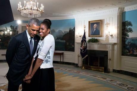 Khoanh khac ngot ngao den 'rung tim' cua vo chong Obama - Anh 3