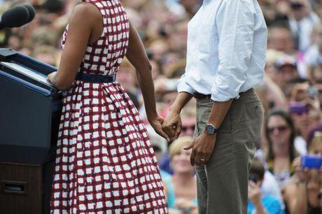 Khoanh khac ngot ngao den 'rung tim' cua vo chong Obama - Anh 4