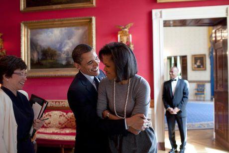 Khoanh khac ngot ngao den 'rung tim' cua vo chong Obama - Anh 7