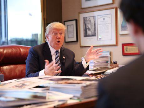 Kham pha van phong lam viec cua ong Donald Trump o Manhattan - Anh 1