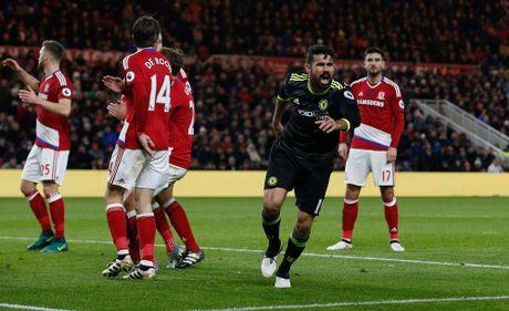 Costa ghi ban thu 10, Chelsea len ngoi dau Ngoai hang Anh - Anh 10