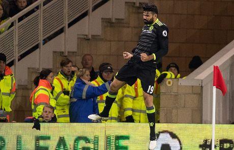 Costa ghi ban thu 10, Chelsea len ngoi dau Ngoai hang Anh - Anh 11
