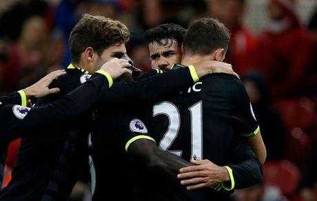 Costa ghi ban thu 10, Chelsea len ngoi dau Ngoai hang Anh - Anh 12