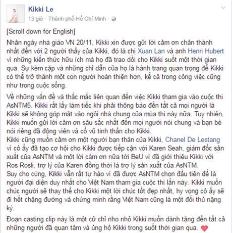 Vi sao Kikki Le khong tham gia Asia's Next Top Model? - Anh 2