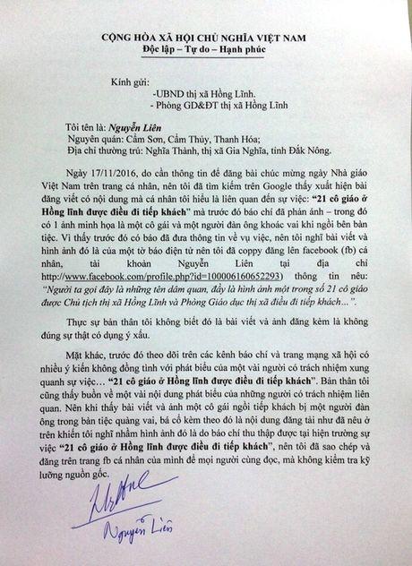 Xin giao vien Hong Linh tha thu vu bia dat tren facebook - Anh 1