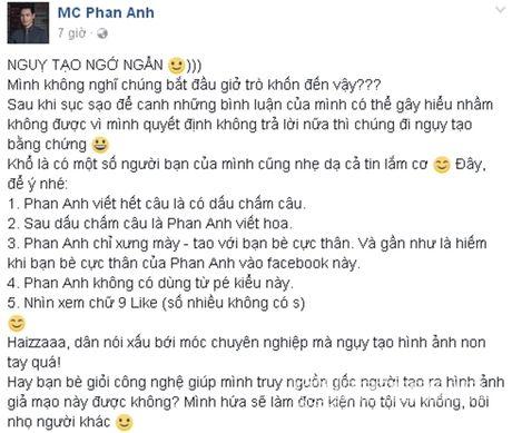MC Phan Anh buc xuc khi co nguoi nguy tao bang chung ve so tien tu thien - Anh 2