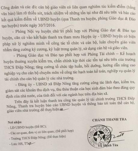 Sai pham lon cua Hieu truong Truong Diep Nong, vi sao UBND huyen chan chu xu ly? - Anh 3