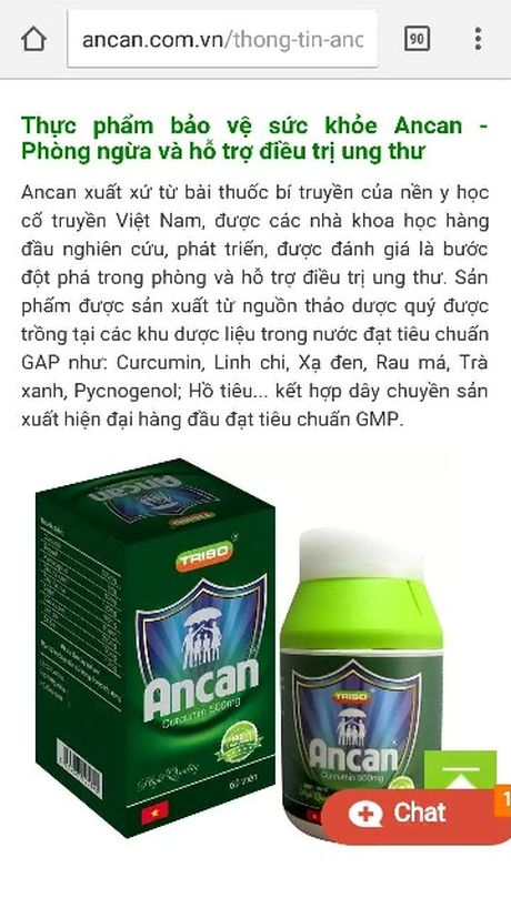 Phat Cong ty Co phan Trieu Son 65 trieu dong vi quang cao sai quy dinh - Anh 1