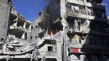 My len an Nga, Syria vi nem bom benh vien o Aleppo - Anh 1