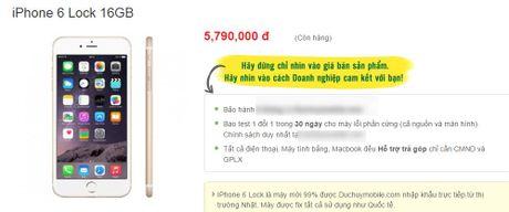 iPhone 6 ban khoa mang tran ve Viet Nam, rot gia duoi 6 trieu dong - Anh 1
