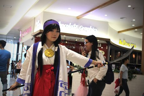 Cosplayer bien Aeon Mall Ha Noi thanh 'the gioi truyen tranh' - Anh 11
