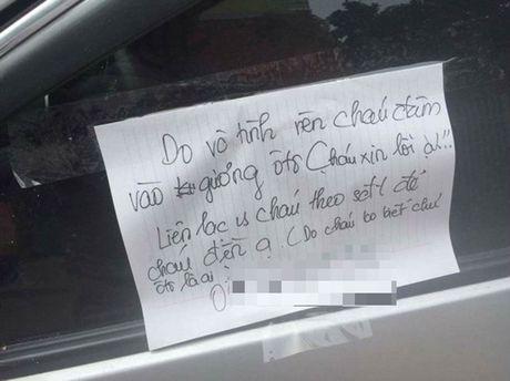 Tuyen duong nam sinh lam vo guong o to, gui loi xin loi - Anh 1