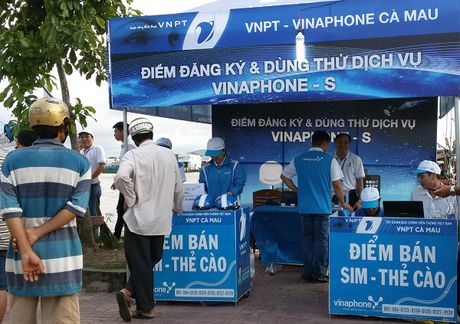 Dich vu di dong ve tinh VinaPhone-S ra mat tai Ca Mau - Anh 1