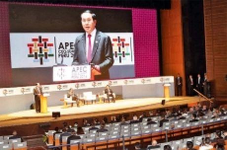 Chu tich nuoc Tran Dai Quang du cac phien hop tai Tuan le cap cao APEC 2016 - Anh 1