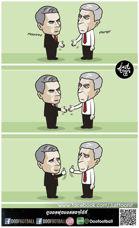 Biem hoa Mourinho va Wenger tu hai lan nhau - Anh 2