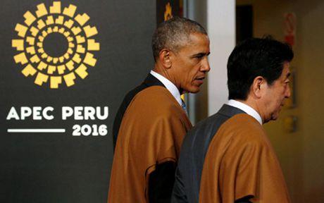 Tong thong Obama cam ket duy tri lien minh My - Nhat Ban - Anh 1