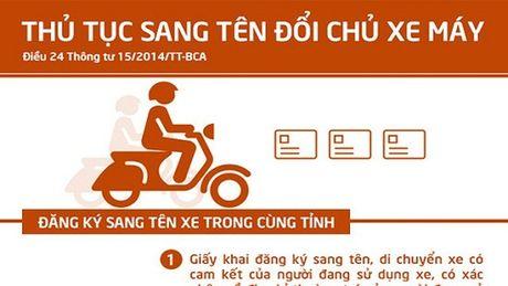 Mua xe cu, muon sang ten chinh chu phai lam the nao? - Anh 1