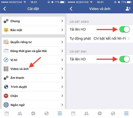 Dang hinh anh, video chat luong HD len Facebook ngay tu dien thoai - Anh 3