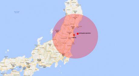 Canh bao song than len toi 3m sau vu dong dat manh gan Fukushima - Anh 1