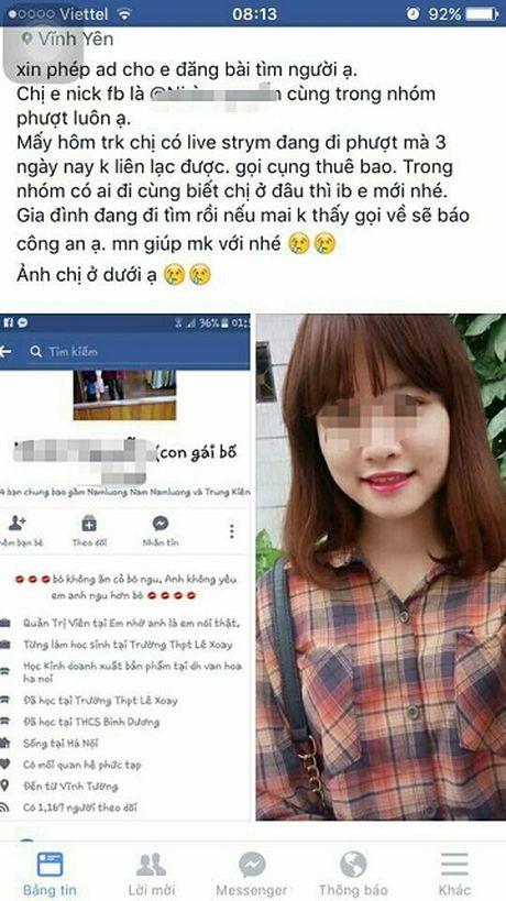 Nu sinh Dai hoc Van hoa Ha Noi nghi bi mat tich trong luc di phuot - Anh 2