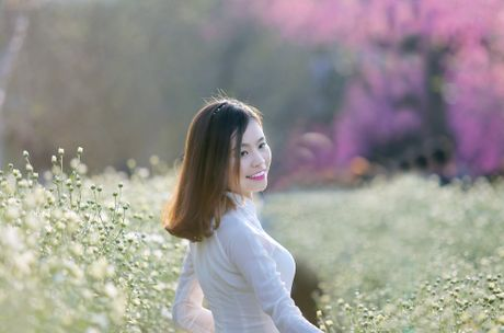 Thieu nu Ha thanh 'do sac' cung hoa cuc hoa mi - Anh 14